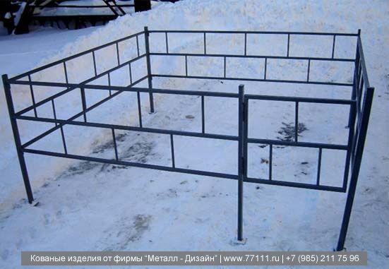 Ограда с профильной трубы своими руками